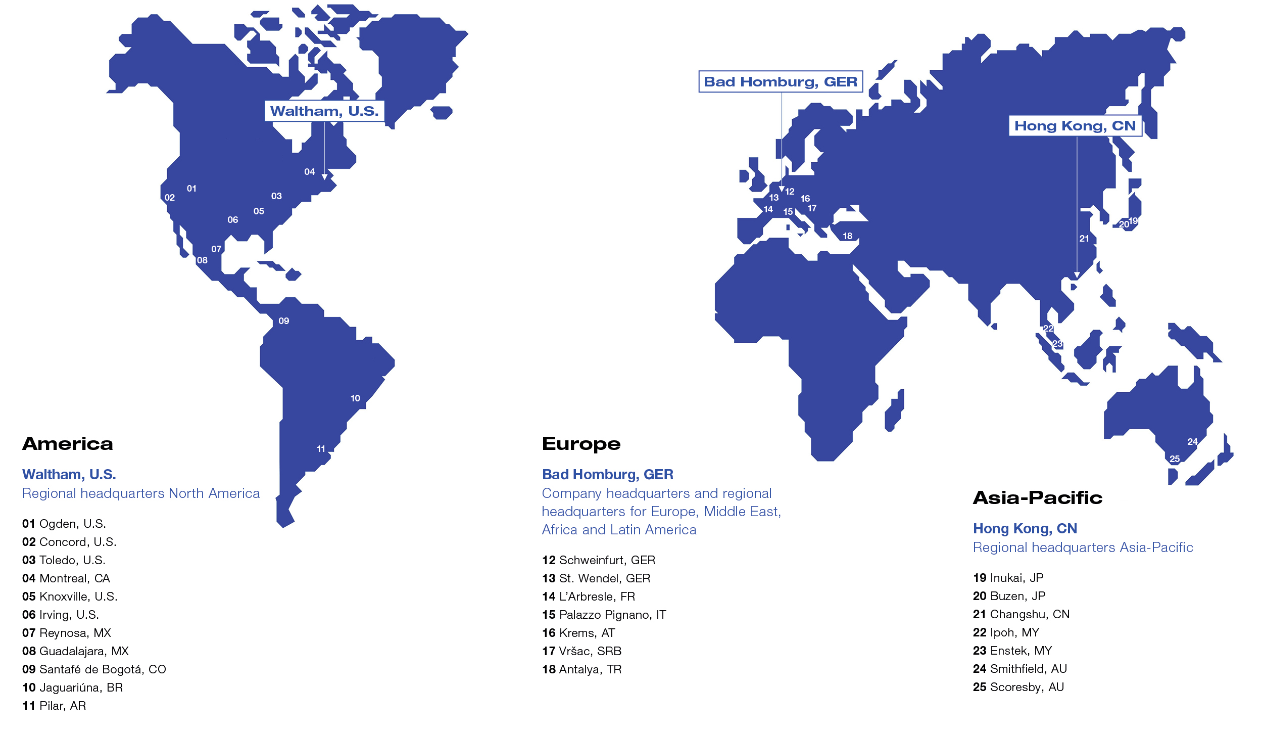 Fresenius Medical Care Worldmap